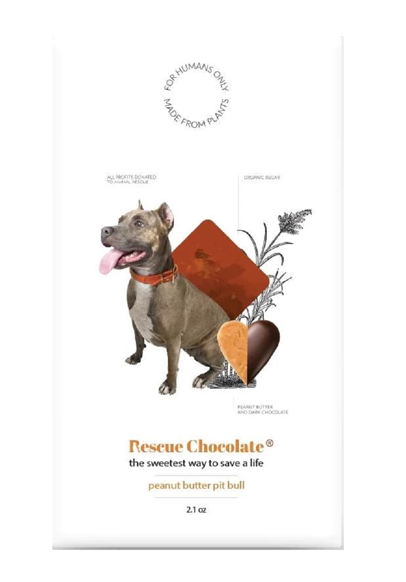 Peanut Butter Pit Bull Chocolate Bar