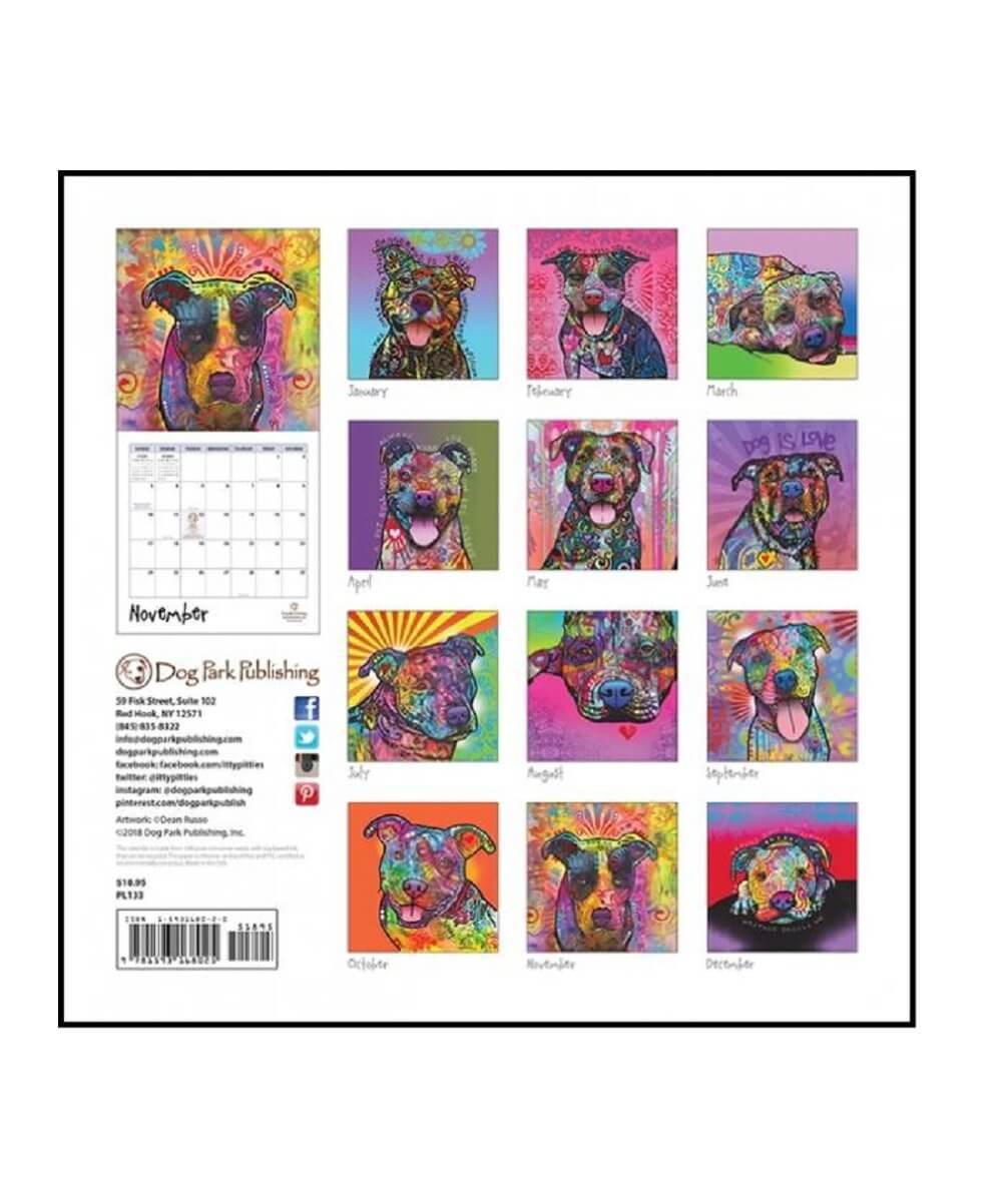2019 Painted Pit Bulls Calendar