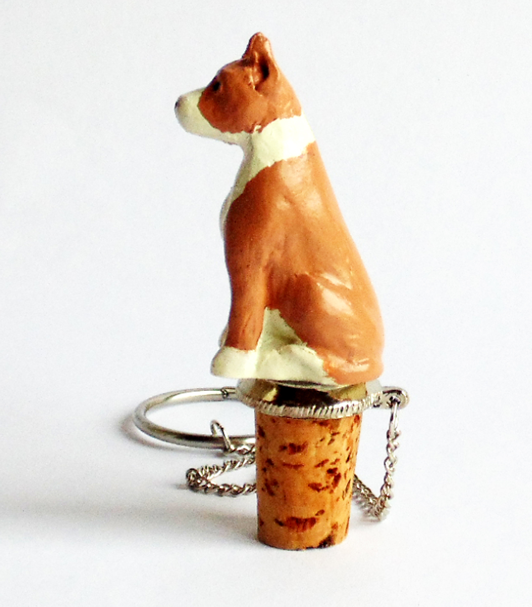 Pit Bull Wine Stopper (Fawn)