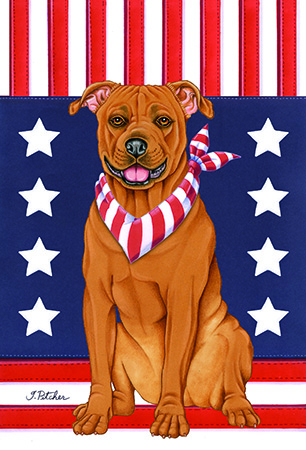 American Pit Bull Americana Garden Flag