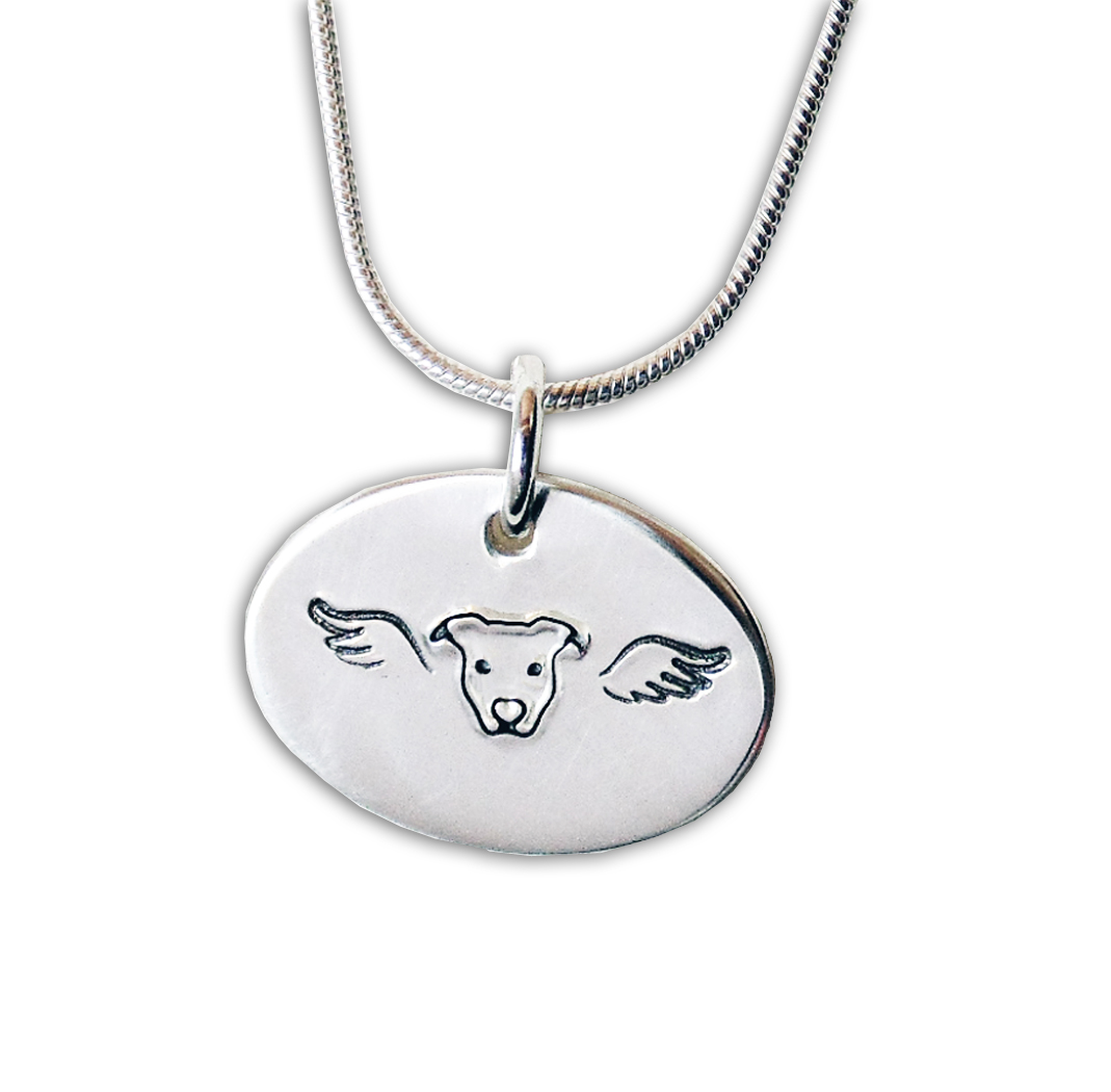 Pit Bull Angel Necklace