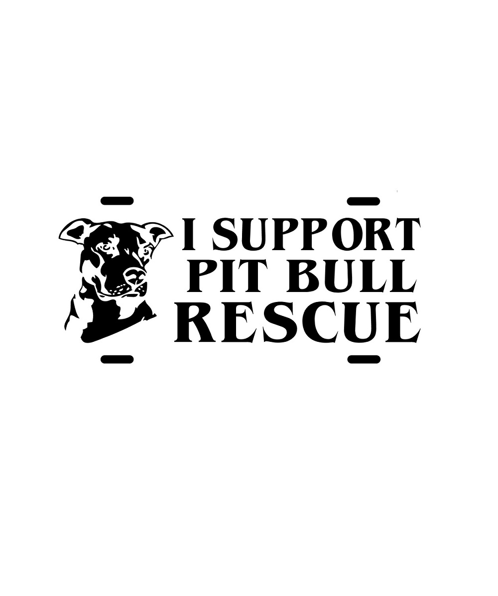 I Support Pit Bull Rescue License Plate