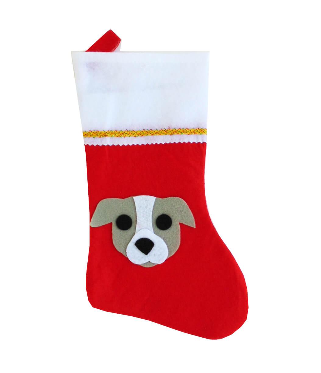 Pit Bull Christmas Stocking