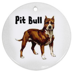 Brindle Pit Bull Porcelain Ornament