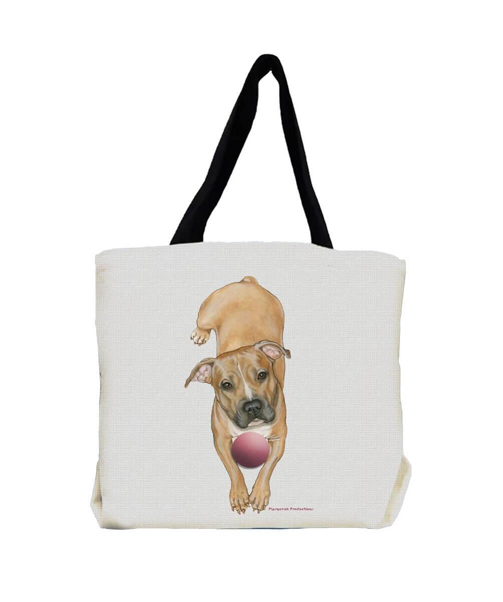 Peaceful Pit Bull Terrier Tote Bag
