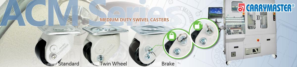 Carrymaster ACM Series Medium Duty Swivel Casters