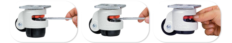 Carrymaster Leveling Caster, Carrymaster Leveling Caster Wheel