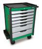 Toptul TCAP0701 Mobile Tool Trolley Bumper Series 7 Drawer Green