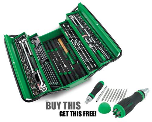 """Toptul GCAZ094A Cantillever 94 Piece 1/4,3/8,1/2"""" Metric Tool Kit"""