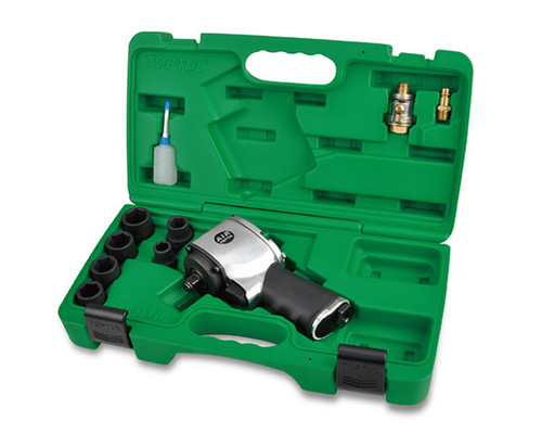"Toptul 1/2"" DR 678Nm Super Duty Air Impact Wrench Set"