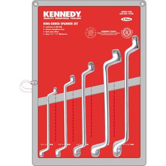 Kennedy 31634inchWHIT CV RING SPANNER SET 5PC