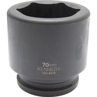 Kennedy 70mm  IMPACT SOCKET 112inch DR