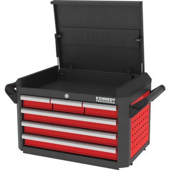 KennedyPro RED28inch 6 DRAWER PROFESSIONAL TOP CHEST