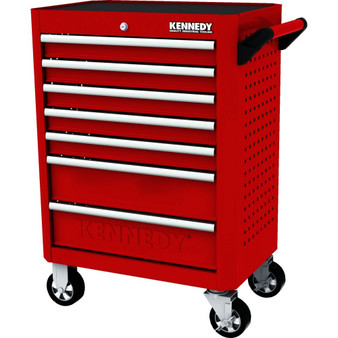 Kennedy RED28inch 7 DRAWER ROLLER CABINET
