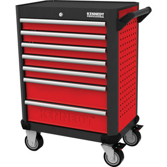 KennedyPro RED28inch 7 DRAWER PROFESSIONAL ROLLER CABINET