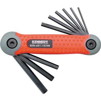 KennedyPro 564inch14inch PROTORQ HEX WRENCH SET ON CLIP 9PCE