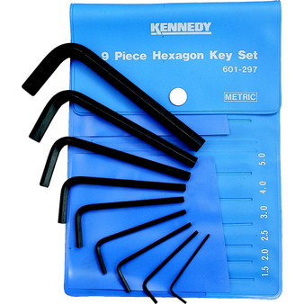 Kennedy 1.510mm HEXAGON WRENCH SET 9PCE