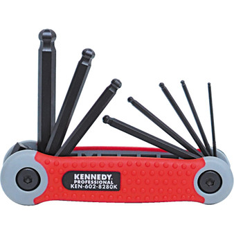 Kennedy 1.58mm PROTORQ HEX BALL WRENCH SET ON CLIP 8