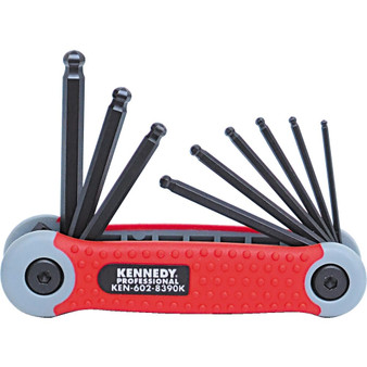 Kennedy 564inch14inch PROTORQ HEX BALL WRENCH SET ON CLIP9