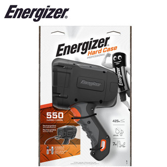 ENERGIZER HARD CASE RECHARGEABLE HYBRID LED SPOTLIGHT 550 LUMENS