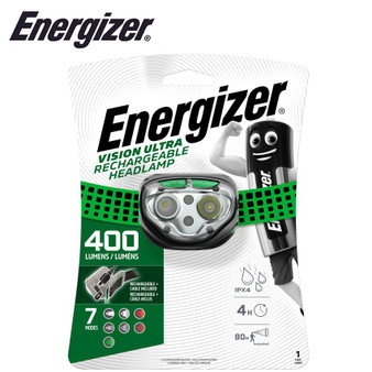 ENERGIZER 400LUM VISION RECHARGE HEADLIGHT GREEN