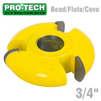 3 WING CUTTER 3/4' BEAD/FLUTE/COVE