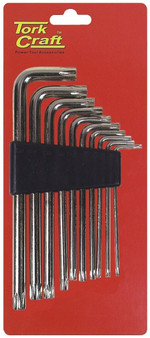 10PC TORX KEY SET T9-T50  CR-V CARDED