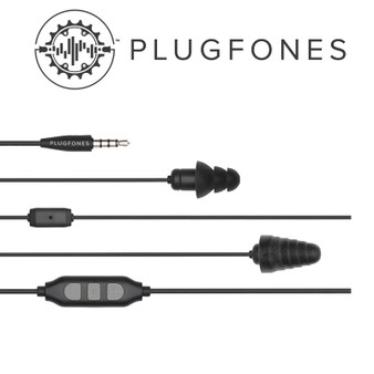 GUARDIAN PLUS SERIES BLACK/BLACK WIRED EARPHONES WITH MIC & VOL CONT