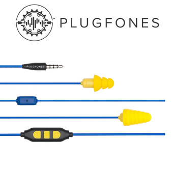 GUARDIAN PLUS SERIES BLUE/YELLOW WIRED EARPHONES WITH MIC & VOL CONT