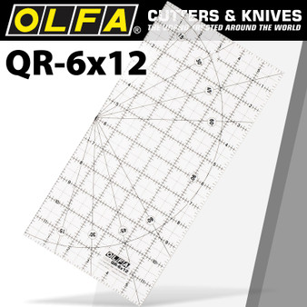 QUILT RULER IMPERIAL 6IN X 12IN