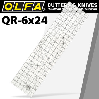 QUILT RULER IMPERIAL 6IN X 24IN