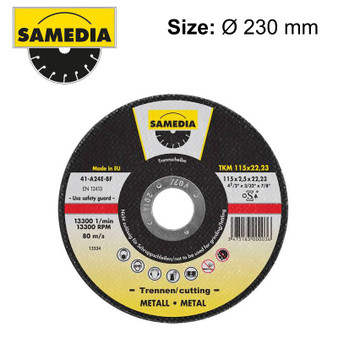 ABR CUTTING DISC 230 X 3.0 X 22.3MM OSA S/STEEL & METAL SAMEDIA