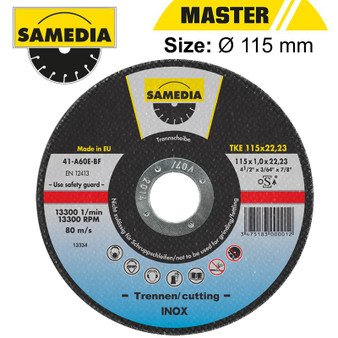 ABR CUTTING DISC 115 X 1.0 X 22.3MM OSA S/STEEL & METAL SAMEDIA