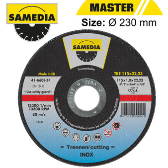 ABR CUTTING DISC 230 X 1.9 X 22.3MM OSA S/STEEL & METAL SAMEDIA