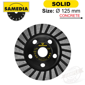DIAMOND CUP WHEEL 125MM X 22.23 IND. SPECIAL SOLID STS