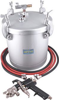 10L PAINT POT WITH 2M HOSE AND GUN NO CUP