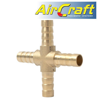 4 WAY HOSE CONNECTOR 8MM 1PCE BLISTER