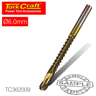 DRILL SAW 6MM TIN. COATED CARDED