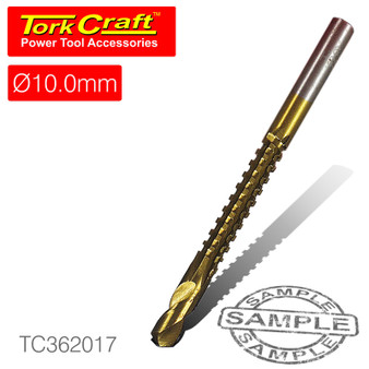 DRILL SAW 10MM TIN. COATED CARDED