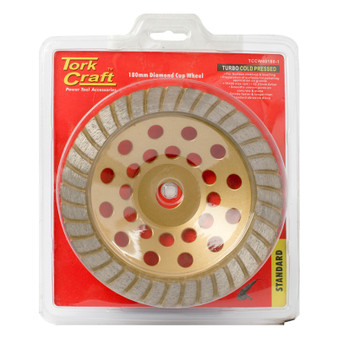 DIA. CUP WHEEL 180 X 22.23MM TURBO COLD PRESSED