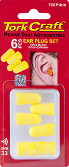 EAR PLUG 6PC SET 4PC BULLET 2PC CYLINDER CARDED SNR33
