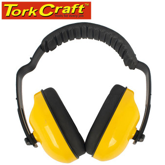 EARMUFF ABS CUP ADJ. HEAD BAND SNR25 DB YELLOW 1PC