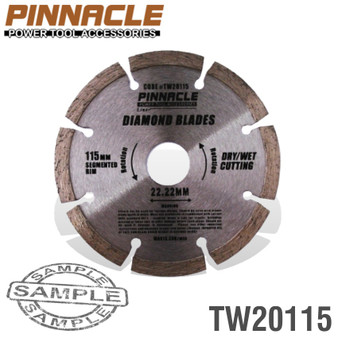 DIAMOND BLADE SEGMENTED 115MM PINNACLE BRAND