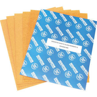 ASSORTED SHEETS GLASS PAPER PACK OF 5