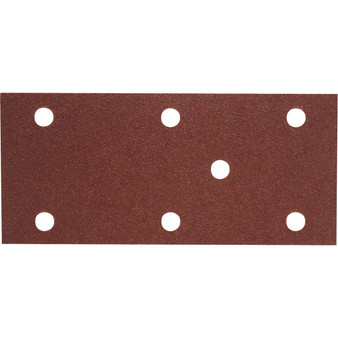 165x75mm 7 HOLE HOOK-N-LOOP SANDING SHEETS P80