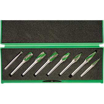 8 PIECE SPEEDWAY DUAL CUT CARBIDE BURR SET 6mm SHANK