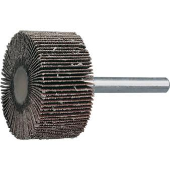 80 x 40mm ALUMINIUM OXIDE FLAP WHEEL P80 6mm SHANK