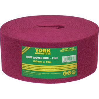 100mm x 10M NON-WOVEN ROLL EXTRA FINE MAROON