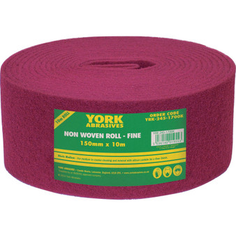 150mm x 10M NON-WOVEN ROLL EXTRA FINE MAROON