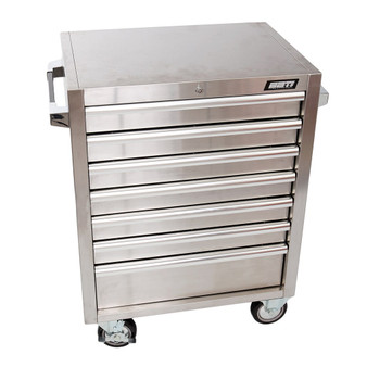 7 Drawer Roller Cabinet Stainless Steel